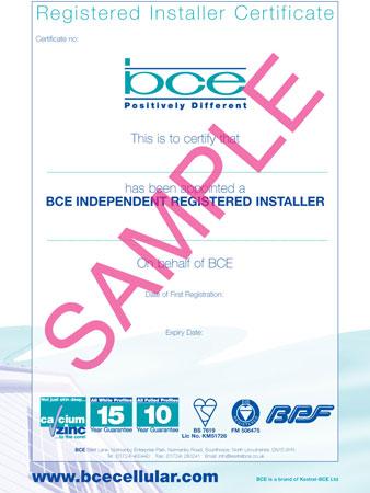 BCE Cellular - Registered Installer
